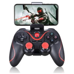 tablet wireless controller NZ - Wireless Android Gamepad T3 X3 Wireless Joystick Game Controller bluetooth BT4.0 Joystick For Mobile Phone Tablet TV Box Holder