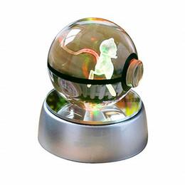 $enCountryForm.capitalKeyWord Australia - Christmas Supplies 3D K9 Crystal Magic Ball LED Lamp Pokemens Series ikachu Gengar Jigglypuff Figrye Figures Toys Desktop Decoration Light