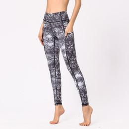 73b5b847f7661 Running Leggings Pockets NZ - High Waisted Leggings Womens Yoga Cropped  Pants Side Pockets Fitness Running