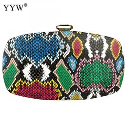 clutches for evenings Australia - YYW Fashion Women Clutch Bag For Evening Party Wedding Purse Prom Clutches Snakeskin Pattern Clutch Female Crossbody Bags