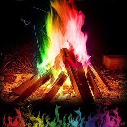 Flaming Toys NZ - 10 15 25g Novelty Magic Fire Mystical Fire Magic Tricks Colorful Flames Powder Bonfire Sachet Magicians Pyrotechnics Classic Toy