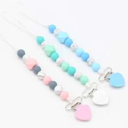 Dummy Clips Wholesalers Australia - Ins hot sale Baby Clip Chain Pacifier Soother Holder Clip Nipple Teether Dummy Strap Chain designer baby accessories