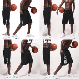 Wholesale Basketball shorts Elite elite thin body fitness exercise five knees basketball pants white breathable and fast drying shorts