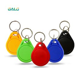 card reader 125khz id NZ - Keychain sticker card label key ID keychain access control EM keychain token portal reader 100 125khz RFID (multi-color optional