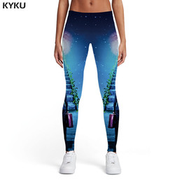 $enCountryForm.capitalKeyWord Australia - KYKU Galaxy Leggings Women Nebula Printed pants Cartoon Sexy Gothic Spandex Harajuku Ladies Womens Leggings Pants Casual Jeggins
