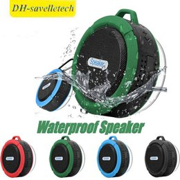 $enCountryForm.capitalKeyWord Australia - C6 IPX7 Outdoor Sports Shower Portable Waterproof Wireless Bluetooth Speaker Suction Cup Handsfree MIC Voice Box For iphone X iPad PC