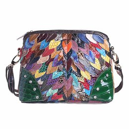 $enCountryForm.capitalKeyWord UK - Women Genuine Leather Shell Bag Spring Patchwork Crossbody Bags Female Casual Shoulder Bags Totes Bolsas Feminina Random Color