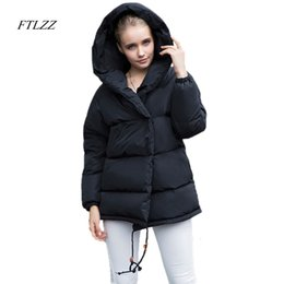 $enCountryForm.capitalKeyWord Australia - FTLZZ New Winter Parkas Women Loose Fit 90% Duck Down Coat Medium-long Thickness Hooded Jacket Warm Snow Pink Overcoat Y190918