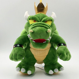 30CM Green Bowser Plush Toys Maro King of Bowser Stuffed Toys Doll Best Kids Gifts L5843 on Sale