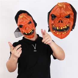 $enCountryForm.capitalKeyWord Australia - Halloween Scary Pumpkin Head Mask Fashion Latex Skull Costume Accessories Costume Party Spoof Cosplay