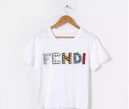 Vente en gros T-shirt de marque de mode européenne Paris haute qualité lettre imprimée col rond Tops T-shirts en coton T-shirt des femmes occasionnels