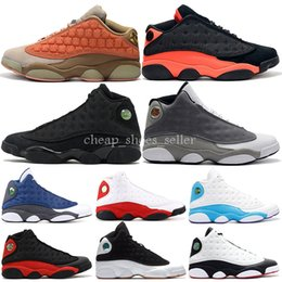Free Soccer Shoes Australia - 2019 Basketball Shoes 13s Mens Clot Atmosphere Grey Melo Flint Bred Black Cat DMP Wolf Grey Trainer Sports Sneaker 7-13 Free Shipping
