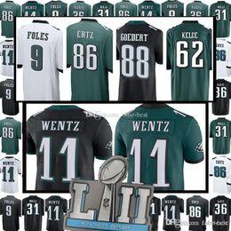 11 Carson Wentz Jersey Philadelphia 62 Jason Kelce Eagles 88 Dallas Goedert  86 Zach Ertz 9 Nick Foles 20 Brian Dawkins 91 Cox Jeffery e2988bab4