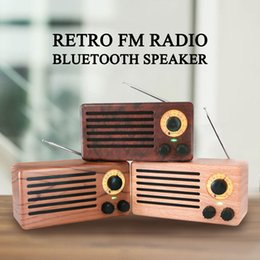 flash drive speaker player Australia - New Portable Retro FM Radio Wireless Bluetooth Stereo Speaker Hands free Calls Mp3 Music Player Speakers USB Flash Drive TF Card