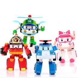 best robot toys Australia - 4pcs Set Korea Deformation Robot Classic Plastic Transformation Toys Best Gifs Toys For Children Free Shipping #E SH190915