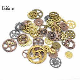Alloy Gear Australia - BoYuTe (100 Gram Bag) Mix Styles Metal Steam Punk 6 Colors Steampunk Gears Diy Alloy Jewelry Accessories
