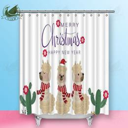 $enCountryForm.capitalKeyWord Australia - Vixm Cute Sheep Wild Animal Cartoon Character Shower Curtains Striped Style Sunglasses Polyester Fabric Curtains For Home Decor