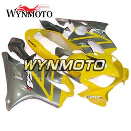 Honda Frames Australia - Hot Sale Yellow Grey Carenados for Honda CBR600F4i 2001 2002 2003 01 02 03 ABS Plastic Injection Body Frames Autocycle F4i 01 02 03 Covers