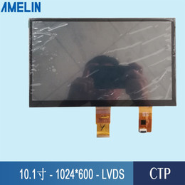 tft lcd touch screen module UK - 10.1 inch 1024*600 LVDS Interface TFT LCD Module screen with HX8282A Driver IC and CTP touch panel