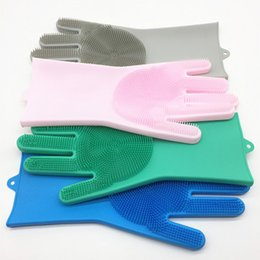 $enCountryForm.capitalKeyWord Australia - 6 Colors Dish Washing Golves Kitchen Bed Bathroom Cleaning Glove Silicone Brush Dish Washing Gloves Magic Housework Brush Clean Gloves