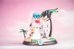 Dragon Ball Vegeta Bulma Anime de Casamento Figura Collectible Moble Brinquedos Quentes Aniversários Presentes Boneca Nova Arrvial Venda Quente PVC Frete Grátis em Promoção