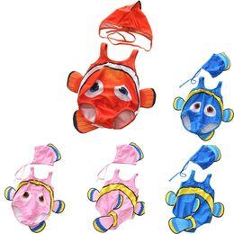 $enCountryForm.capitalKeyWord Australia - Baby Fish Nemo Swimwear 2pcs Cartoon Sleeveless Swim Suit for Boys Girls Toddler Infant Bathing Suit Beachwear Hat