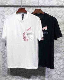 $enCountryForm.capitalKeyWord Australia - 19ss spring and summer luxury Paris brand chest embroidery cherry blossom LOGO high quality fashion male designer casual cotton T-shirt tag