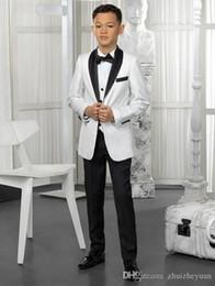 $enCountryForm.capitalKeyWord Australia - White And Black Boys Tuxedo Custom Made Boy Dinner Suits Boys Formal Suits Tuxedo for Kids Tuxedo Formal Occasion Suits Boy(jacket+pant+tie)