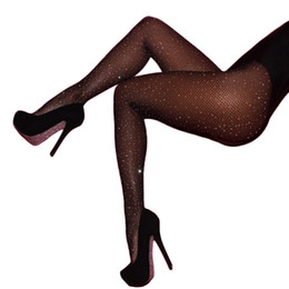 tights rhinestones NZ - Fishnet Diamond Stockings Tights Sexy Women Pantyhose Summer Fashion Rhinestone Stockings Nylon Female Tights W2136