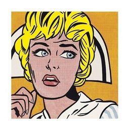 $enCountryForm.capitalKeyWord Australia - Roy Lichtenstein Nurse High Quality HandPainted &HD Print Pop Art Portrait Wall Art Oil Painting On Canvas Home Decor Multi Sizes Ry27