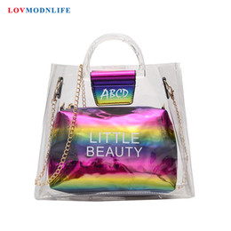 $enCountryForm.capitalKeyWord NZ - Fashion Jelly Clear Transparent Beach Bag For Women Candy Color Tote Bags Girls Handbags Summer Female Messenger Shoulder Bags