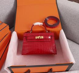 AlligAtor leAther shoulder hAndbAgs online shopping - Classic Designer Women Handbags Shoulder Bags Tote Purse Shoulder Mini Strap Crossbody Bag High Quality Genuine Leather Women Handbag cm