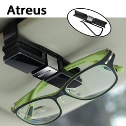 clip sun visors for cars Canada - Atreus Car Sun Visor Clip Holder Sunglass Glasses Interior Accessories For Cruze Aveo Captiva C4 C5 Seat Leon