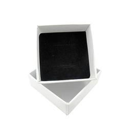 $enCountryForm.capitalKeyWord Australia - White Box For Jewelry Display Wedding Ring Earring Holder Box Packaging Gifts Case Wholesale Lots Bulk Boite Rangement Bijoux