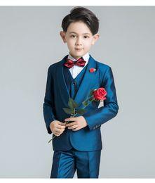 Handsome Kids Suits Australia - Popular One Button Shawl Lapel Kid Complete Designer Handsome Boy Wedding Suit Boys Attire Custom-made (Jacket+Pants+Tie) A50