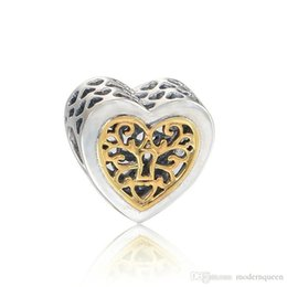 Heart beads charms S925 sterling silver fits for pandora style charms bracelets free shipping LW618
