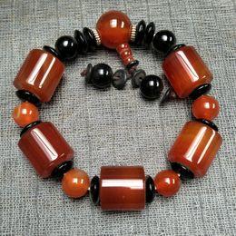 NEUES ANGEBOT, chinesischer natürlicher Achat:, Handketten Natürliche bunte Achat 10mm Perlen Armbänder versandkostenfrei Auf Verkauf A3267 im Angebot