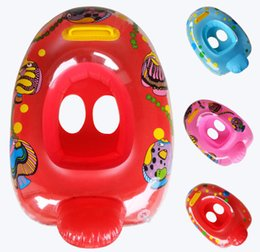 Baby Swimming Ring Seat Australia - baby swimming ring seat cartoon car baby pool float floating rings kids swimming laps life buoy child seat boat wholesale