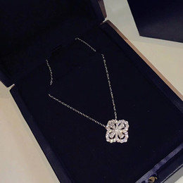 $enCountryForm.capitalKeyWord Australia - Brand Pure 925 Sterling Silver Jewelry For Women Lotus Flower Neckalce Flower Pendant Luck Clover Sakura Wedding Party Necklace