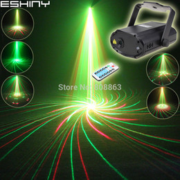 ESHINY Mini R&G Laser 12 Patterns Projector Dance Disco Bar Family Party Xmas Stage DJ environment lighting Light Show T21