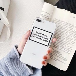 $enCountryForm.capitalKeyWord Australia - Social Media seriously harms your mental health Soft Phone Case For iphone 6 6S 7 8 plus X XS Back Cover Case Coque