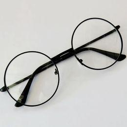 545c89d46 2018 Mais Novo Moda Unisex Retro Grande Rodada Transparente Óculos de  Armação De Metal Do Vintage Eyewear Limpar Lens Das Mulheres Dos Homens  Óculos