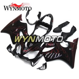Honda Frames Australia - Black Red Flames Hot Sale Body Frames for Honda CBR600F4i 2001 2002 2003 01 02 03 ABS Plastic Injection Covers Autobike Cowlings