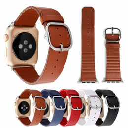 Smart Buckle Watch Australia - Wholesale Loopback Buckle Genuine Leather Single Tour Bracelet Strap For 42mm 38mm Apple Smart Watches Strap Durable Belt Wrist Watchband