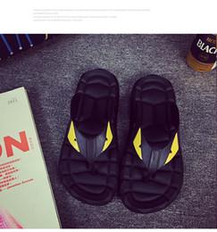 cf149ca7bf9d 2018 Summer Eye Monster men s shoes flip flops for loose-fitting men beach  slippers rubber flip-flops men sandals