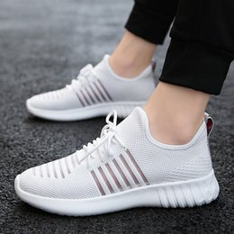 $enCountryForm.capitalKeyWord Australia - MUQGEW striped white flats sneaker shoes for men New arrival Hollow out Non-slip Lightweight flats sneaker men shoes chaussures