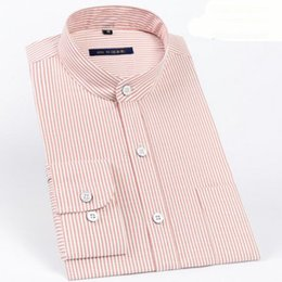 Men S Shirts Fabric Australia - Casual Breathable Comfortable Wash and Wear Shirts Camisa Men Long Sleeve Stand Collar Slim Fit Korean Cotton Linen Fabric Cloth