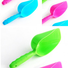 Feeder plastique alimentaire chien Foodstuff Pelle pour chat Scoop Multi Color Portable Eco Friendly réutilisable 1 2zx UU en Solde