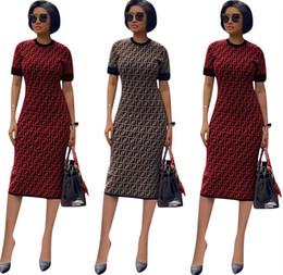 524832cc855a Modern tea party dresses online shopping - 2019 Designer Woman Summer  Dresses Fashion Luxury FF Short
