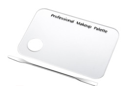 $enCountryForm.capitalKeyWord Australia - DHL Free Private Label Makeup Palette Clear Acrylic Nail Stamping Plates Polish Gel Mixing Spatula Foundation Eyeshadow Stainless Steel Rod